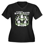 Hand To Hand Combat Women's Plus Size V-Neck Dark