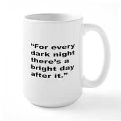 Rap Culture Dark Night Quote Large Mug