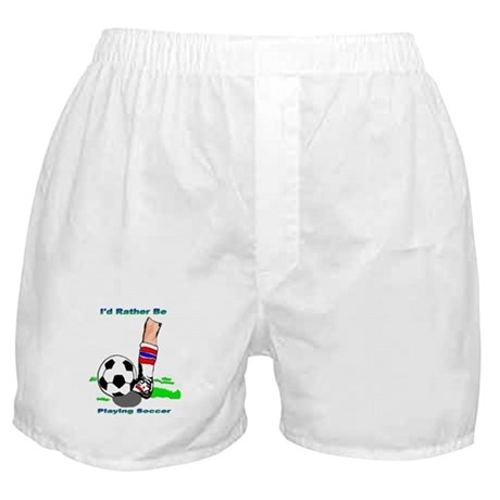 Playing Soccer Unisex Boxer Shorts