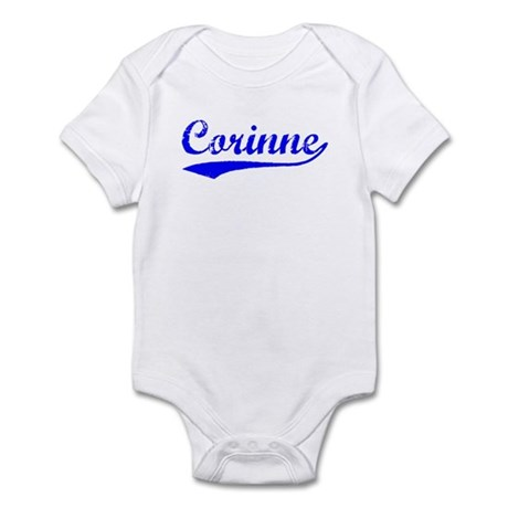 Vintage Corinne (Blue) Infant Bodysuit