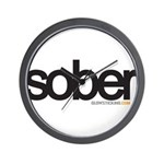 Bio Series: Sober 2 Wall Clock