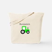 Benjamin - Lime Tractor Tote Bag