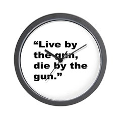Rap Culture Gun Quote Wall Clock