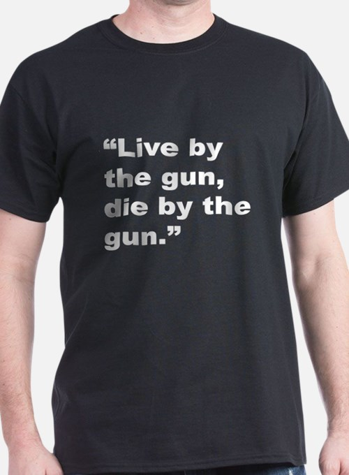 Rap Culture Gun Quote (Front) T-Shirt