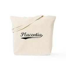 Vintage Placentia (Black) Tote Bag
