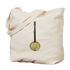Classic Old Time Banjo on Tote Bag