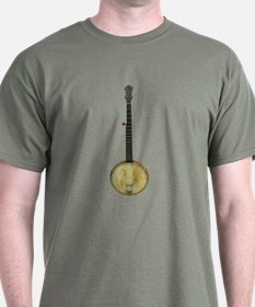 Classic Old Time Banjo on T-Shirt