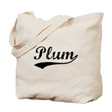 Vintage Plum (Black) Tote Bag