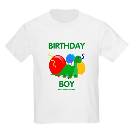 Birthday Boy Dinosaur Kids Light T-Shirt
