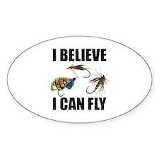 I Believe I Can Fly Sticker (Oval)