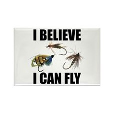 I Believe I Can Fly Rectangle Magnet