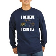 I Believe I Can Fly Long Sleeve Dark T-Shirt