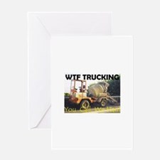 WTF TRUCKING Greeting Card