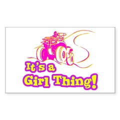 4x4 Girl Thing Rectangle Decal