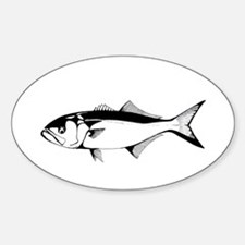 bluefish Oval Decal