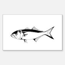 bluefish Rectangle Decal