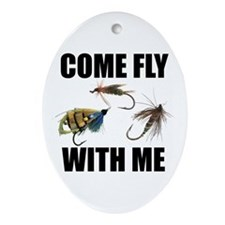 Come Fly With Me Oval Ornament