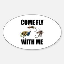 Come Fly With Me Oval Decal