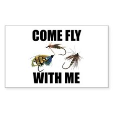 Come Fly With Me Rectangle Sticker