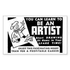 Be An Artist Rectangle Decal