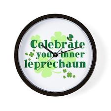 Celebrate Inner Leprechaun Wall Clock