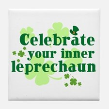 Celebrate Inner Leprechaun Tile Coaster
