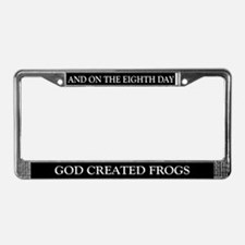 8TH DAY Frogs License Plate Frame
