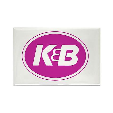 K&B Logo Rectangle Magnet