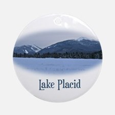 Lake Placid Mountain Ornament (Round)