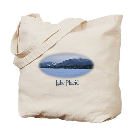 Lake Placid Mountain Tote Bag