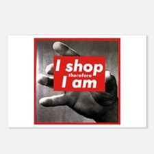 I Shop Therefore I Am Postcards (Package of 8)