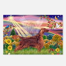 Autumn Angel & Irish Setter Postcards (Package of