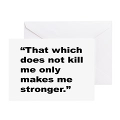 Rap Culture Stronger Quote Greeting Cards (Pk of 2