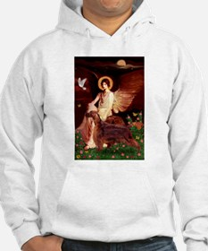 Angel Seated with Irish Sette Hoodie