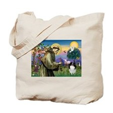 St Francis' Japanese Chin Tote Bag