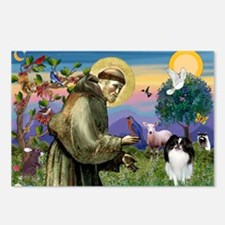 St Francis' Japanese Chin Postcards (Package of 8)