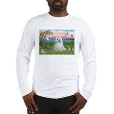 Cloud Angel & Maltese Long Sleeve T-Shirt