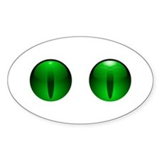 Glowing Eyes Oval Decal