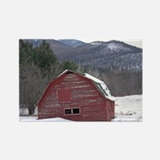 Adirondack Barn In The Snow Rectangle Magnet (10 p