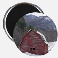 "Adirondack Barn In The Snow 2.25"" Magnet (10 pack)"