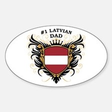 Number One Latvian Dad Oval Decal