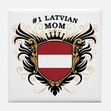 Number One Latvian Mom Tile Coaster