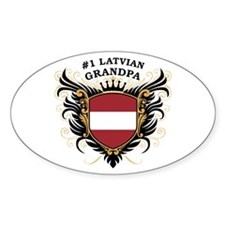 Number One Latvian Grandpa Oval Decal