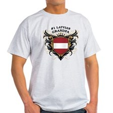 Number One Latvian Grandpa T-Shirt