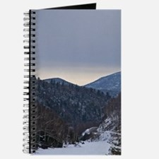 Snow Covered Mountain At Sunset Journal
