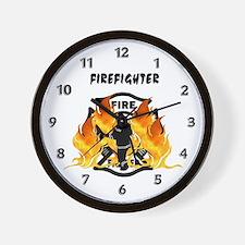 Firefighting Flames Wall Clock