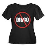 No More Disco (Black) Women's Plus Size Scoop Neck
