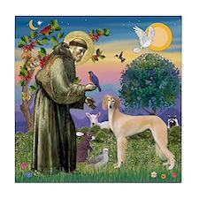 St. Francis & Saluki Tile Coaster