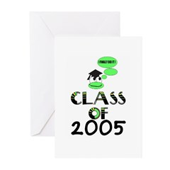 CLASS OF 2005 GRADUATION Greeting Cards (Package
