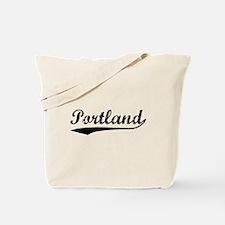 Vintage Portland (Black) Tote Bag